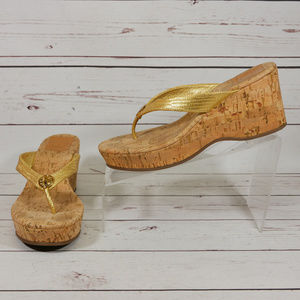 Tory Burch Suzy Wedge Platform Snake Print Sandals